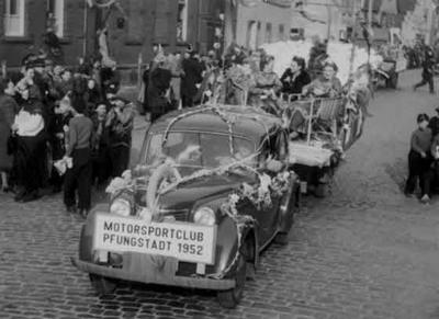 MCP-Beteiligung am Karnevalsumzug 1953