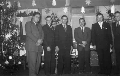 Weihnachtsfeier mit Clubmeisterehrung 1954